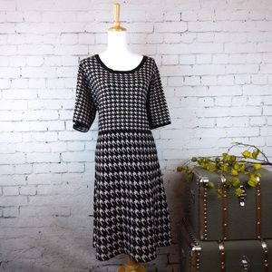 Taylor's Woman houndstooth sweater dress sz 3X